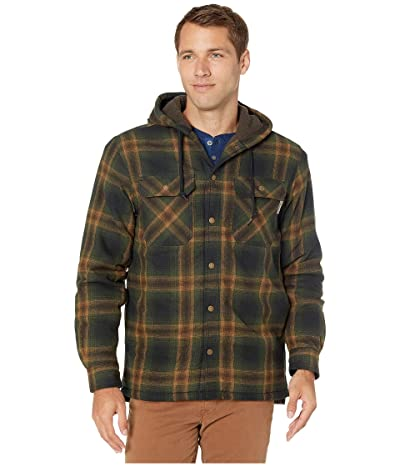 Wolverine Byron Hooded Shirt Jacket (Dark Olive) Men