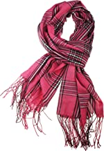 VIVIAN & VINCENT Women's Light Weight Plaid Tartan Sheer Blanket Scarf Shawl Wrap