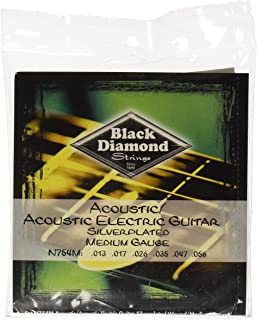 Black Diamond N754M Silverwound Acoustic Guitar Strings, Medium