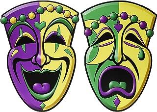 Comedy & Tragedy Face Cutouts   (2/Pkg)