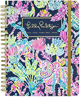 Lilly Pulitzer Jumbo 2021-2022 Planner Daily Weekly Monthly, Hardcover Agenda Dated Aug 2021 - Dec 2022, 17 Month Calendar...