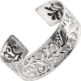 Best sterling silver concave cuff bracelet Reviews
