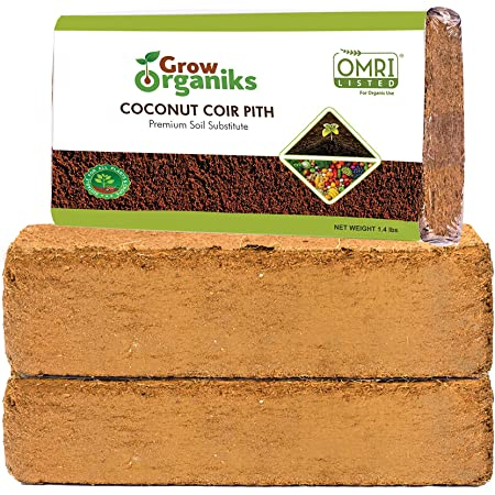 Coir Bricks Coco Soil Growing Media Hydroponics Hanging Baskets Pots 8 Litre