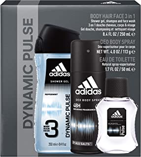 adidas Dynamic Pulse, Men's 3 Piece Gift Set with Body Wash
