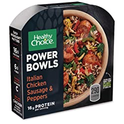 Healthy Choice Power Bowls Italian-Style Chicken Sausage & Peppers, 9.25 Ounce