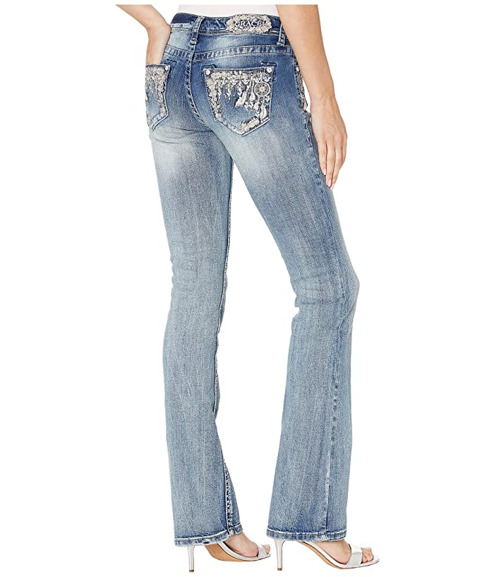 Grace in LA Dream Catcher Jeans in Medium Blue (Medium Blue) Women's Jeans