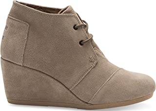 TOMS Desert Wedge Taupe Suede Boot 10006257 Womens 9.5