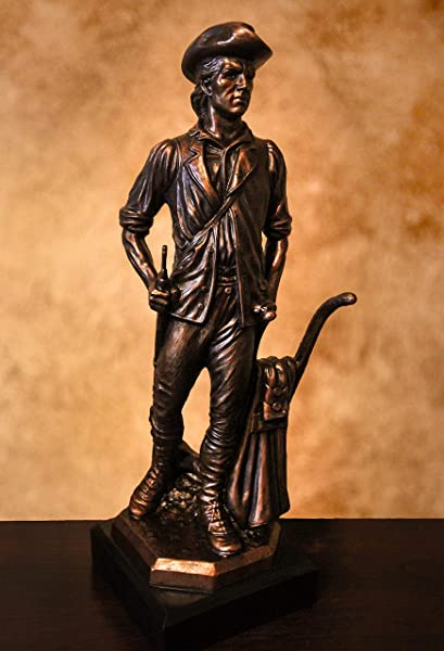 Military Minuteman National Guard Resin Sculpture Gallery Bronze 14 5 Tall