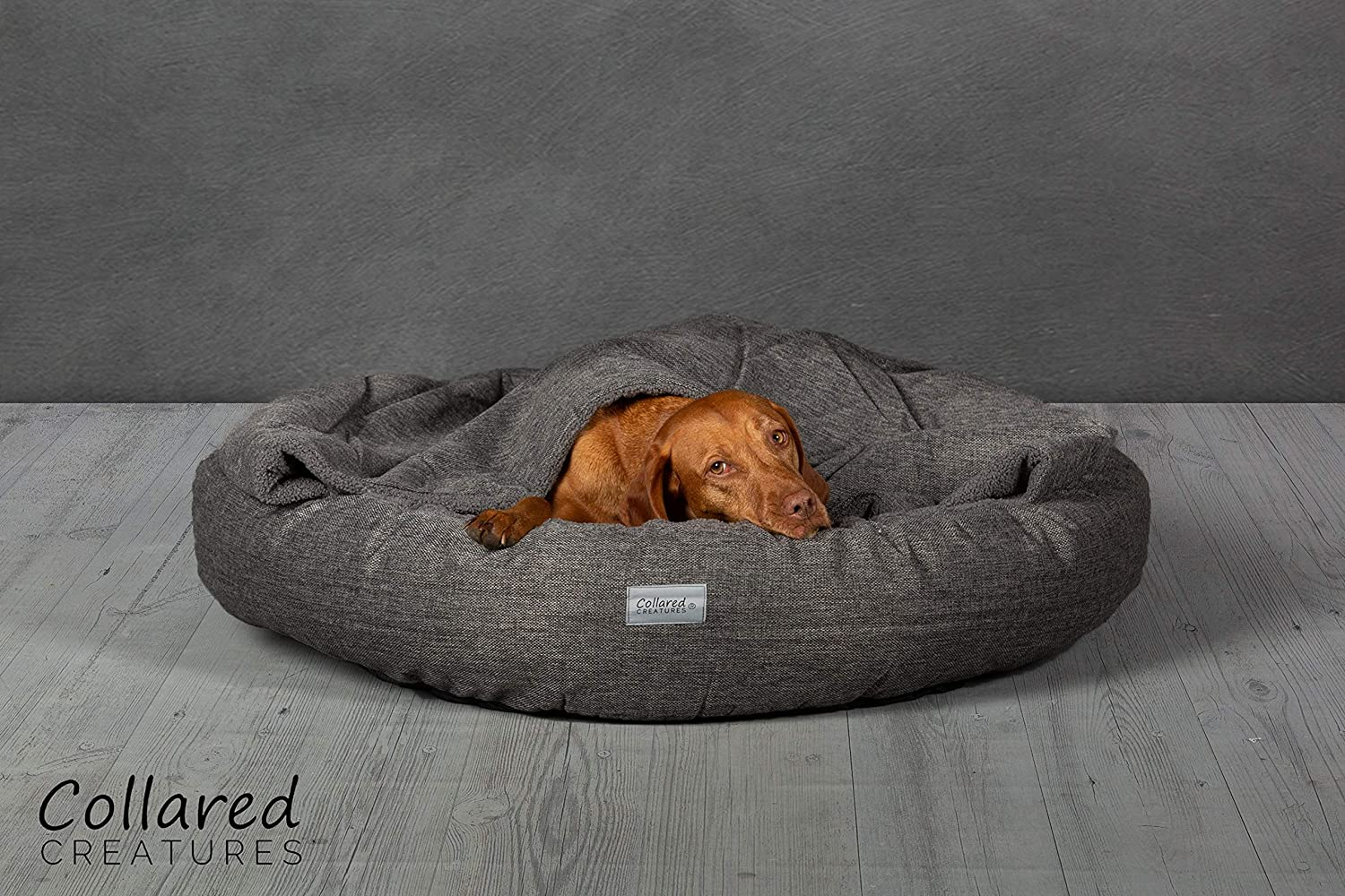 Collared Creatures Comfort Cocoon Dog Cave Bed, Dog Bed, Large 980mm Grey