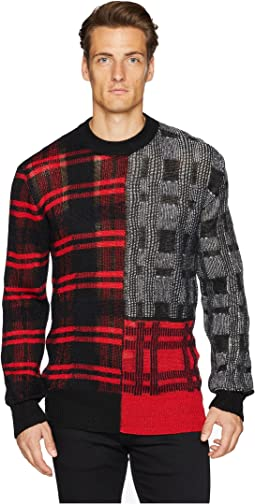 Patchwork Check Sweater