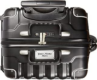 Personalized Luggage Nameplate - VinGardeValise Wine Travel Suitcase - Up to 8 bottles (Black)