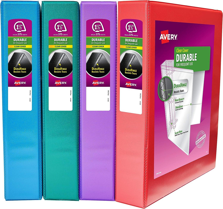 送料無料でお届けします Avery Durable View Binder Multipack Ass Ring 3 ◆高品質 Inch 1.5