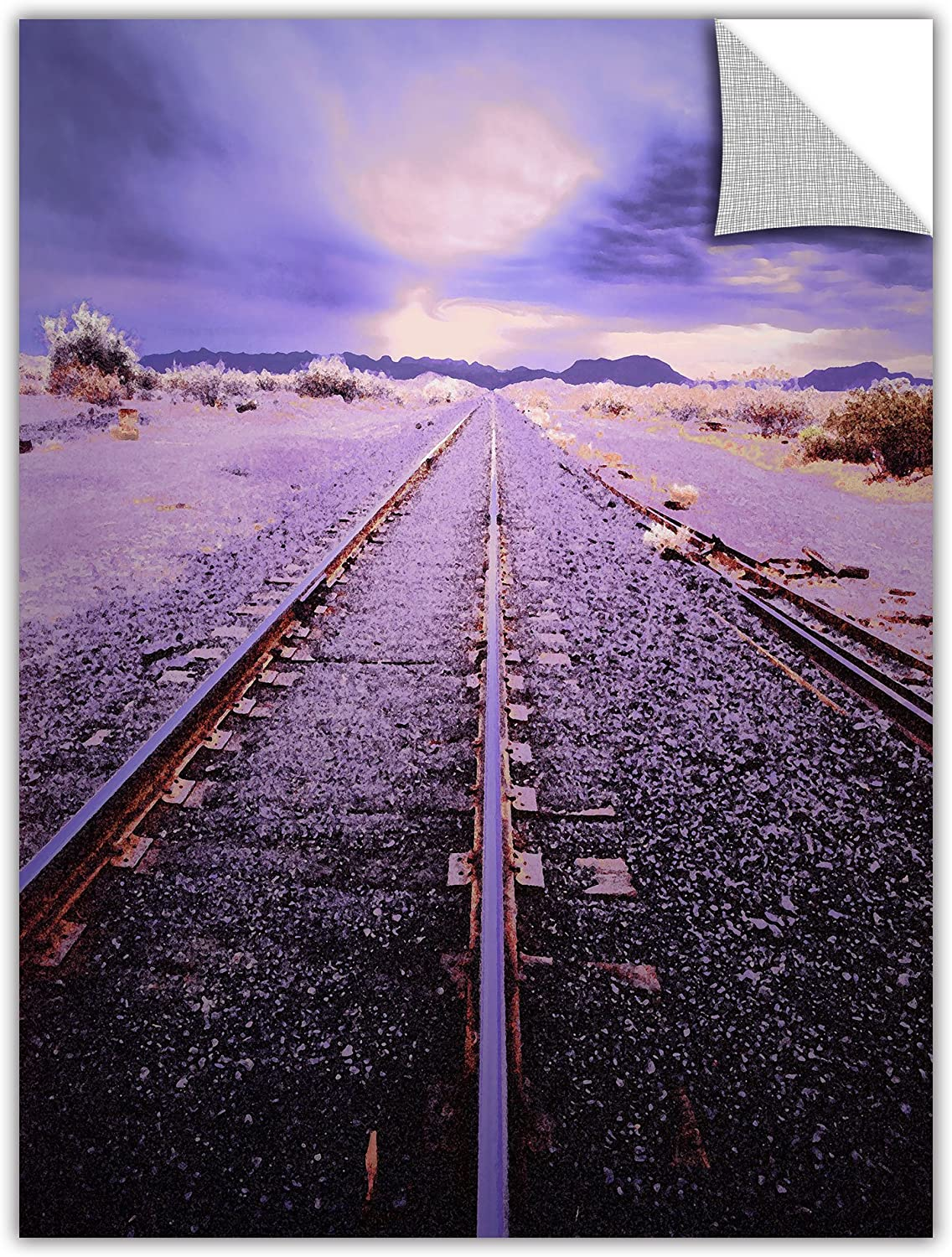 ArtWall Appealz Dean Uhlinger Vanishing Point Arizona Removable Graphic Wall Art, 18 by 24Inch