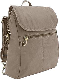Travelon: Anti-Theft Signature Nylon Slim Backpack - Sable