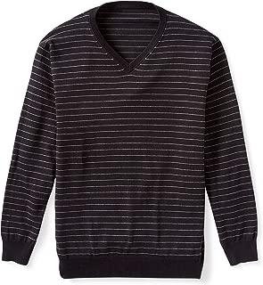 Amazon Essentials Men's V-Neck Stripe Sweater