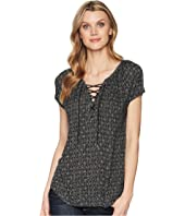 CHAPS Ryder Short Sleeve Knit Top