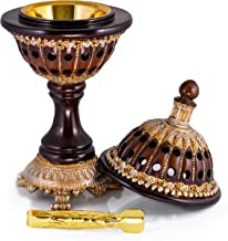 AM Incense Burner Frankincense Resin - Luxury Globe Charcoal Bakhoor Burners for Office & Home Decor