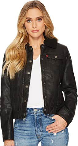 Levi's® - Faux Leather Buff Cow Jacket