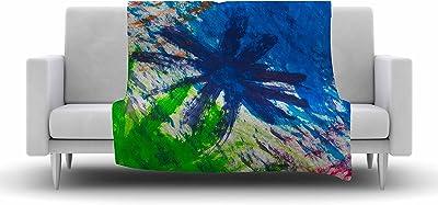 60 X 50 Kess InHouse EBI Emporium Deconstructing The Garden 5 Green Olive Fleece Throw Blanket 60 by 50-Inch