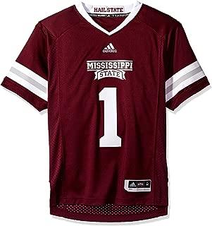 adidas Mississippi State Bulldogs NCAA Men's #1 Maroon Premier Football Jersey