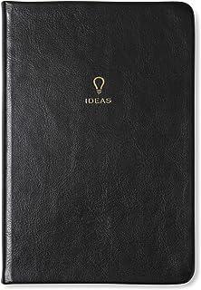 Tri-kustdesign – anteckningsbok med fodrade lakan – skydd i ekläder och guldfolie Svart