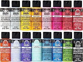 FolkArt Multi Surface Acrylic Paint Set 16 Piece PROMOMSB16 Bright Colors
