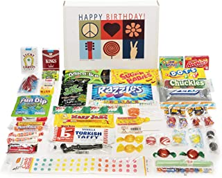 Woodstock Candy ~ Happy Birthday Gift Box Care Package of Nostalgic Retro Candy for Men and Women
