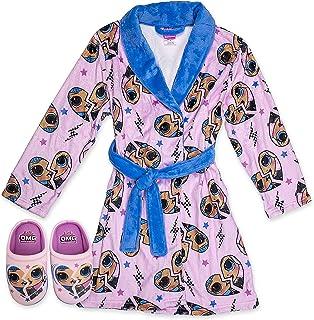 OMG Robe with Slippers,LOL OMG Bathrobe Pajama Set,Girls...