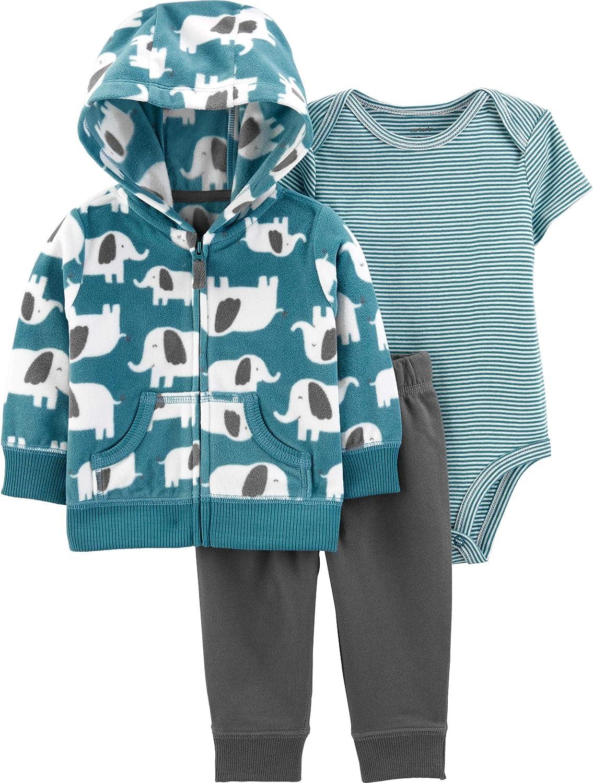 Carter's 3-Piece Elephant Little Jacket Set