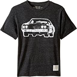 The Original Retro Brand Kids - Vintage Car Short Sleeve Tri-Blend Tee (Big Kids)