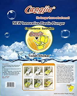 Cangjia Innovative Plastic Toilet Plunger - Easy to Use Disposable Sticker Plunger