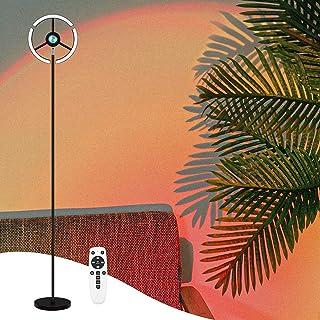 CRAZCALF Lampadaire, 27W/2700LM Sunset Lampe RGB Réglable Lampe de Projection Coucher de Soleil & 3000K~6500K LED Moderne ...