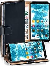 MoEx® Funda Cartera [protección 360°] Compatible con Huawei P Smart (2017) | Cierre magnético, Noir