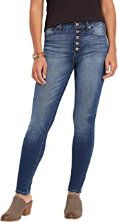 KanCanTM high Rise Button Fly Skinny Jean
