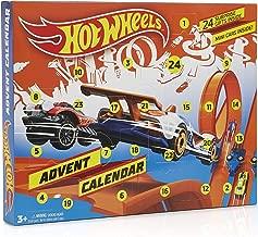 Hot Wheels Calendrier De L'avent avec Jouet Hotwheels Contient 24 Surprises à Collectionner, Véhicules Miniatures, Petite Voiture Enfant, Moto, Voiture Miniature, Accessoires, Cadeau Noël Garçon Fille