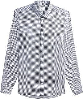 Ben Sherman Men's Long Sleeve Optic Dash Dot Shirt