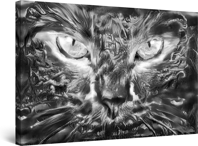 レビューを書けば送料当店負担 Startonight Canvas Wall Art Decor Black 低廉 and Paint Cat Eyes White