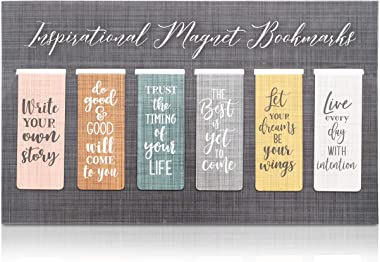 Magnetic Bookmarks with Inspirational Quotes (36 Pack)