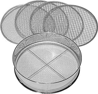 rongweiwang De Mano de la Copa Tamiz de la harina en Polvo tamiz de Malla de pl/ástico de harina en Polvo para Hornear Filtro de Malla Fuentes Herramientas con Tapa