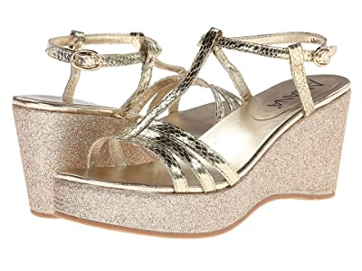Amiana 15-A5136 (Little Kid/Big Kid/Adult) (Gold Snake Print) Girls Shoes