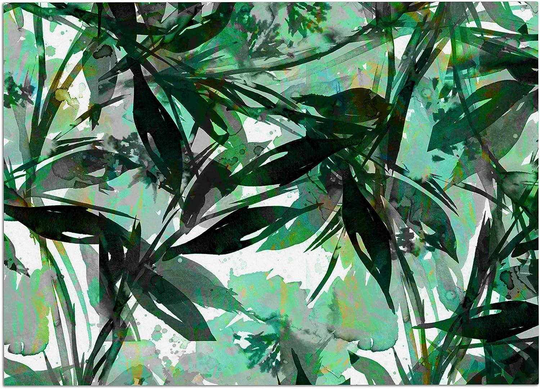 KESS InHouse JD1234ADM02 EBI Emporium Floral Fiesta Green Watercolor Pattern Dog Place Mat, 24  x 15
