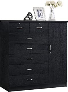 Amazon Com Dressers Chests Of Drawers Black Dressers Bedroom Furniture Home Kitchen