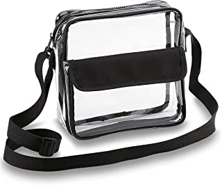 Clear Crossbody Messenger Shoulder Bag with Adjustable...