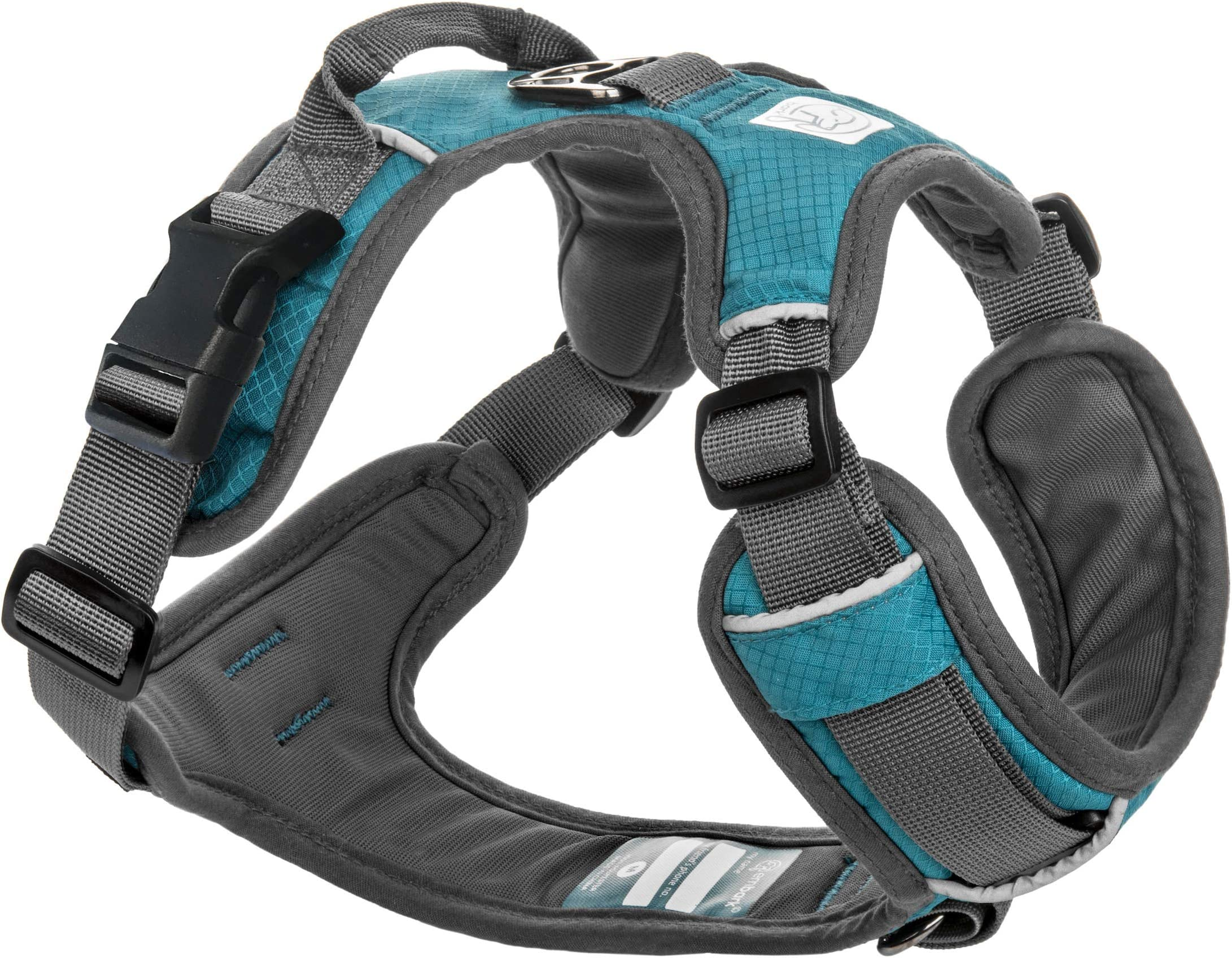 Embark Adventure Dog Harness, Easy On and Off with Front and Back Leash Attachments & Control Handle - No Pull Training, Size Adjustable and Non Choke