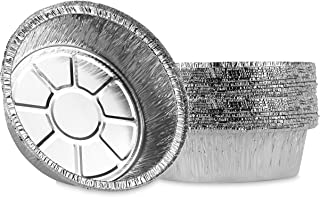 Plasticpro 6'' Inch Round Tin Foil Cake Pans Disposable Aluminum, Freezer & Oven Safe - For Baking, Cooking, Storage, Roas...