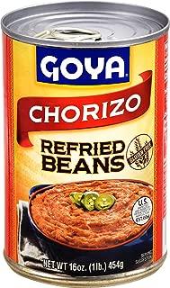 goya refried beans with chorizo