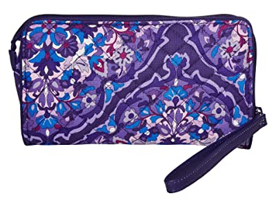 Vera Bradley Iconic RFID Front Zip Wristlet (Regal Rosette) Wristlet Handbags