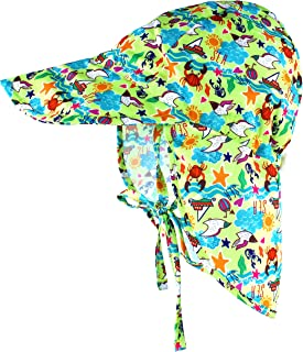 Muryobao Baby Toddler Infant Kids UPF 50+ UV Protection Sun Hat Adjustable Swim Hats with Neck Flap