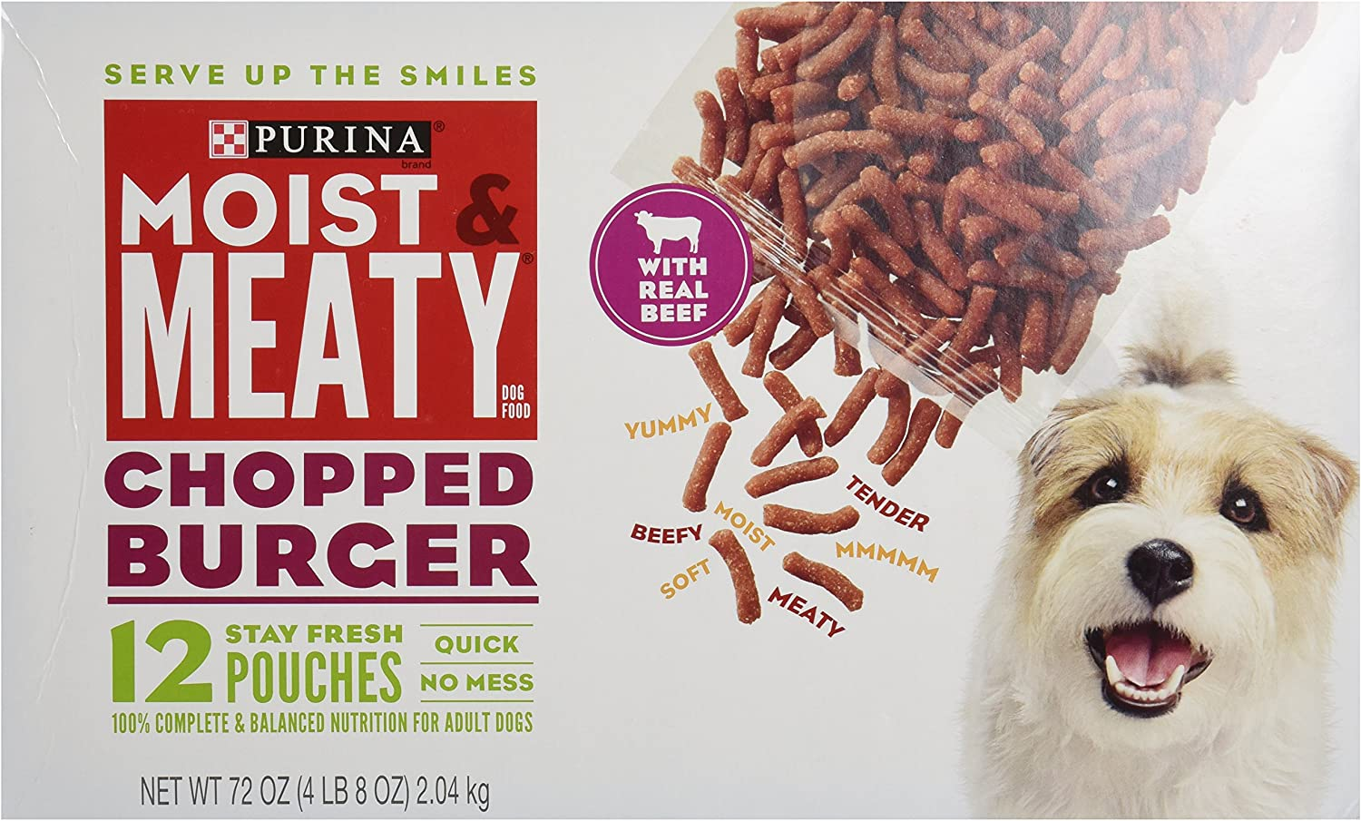 Purina Moist Meaty Dog Food Chopped Luxury goods Import Pouches oz Burger 12 6