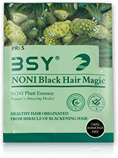 BSY Noni Black Hair Magic (20ml X 20 Sachet) | Hair Dye | Hair Colour | Hair Shampoo